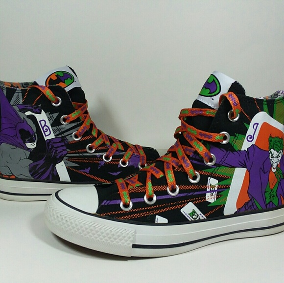 26e348454581 Men Star All Comics Dc Batman Converse Joker Shoes 4 Poshmark q0x6EwPS